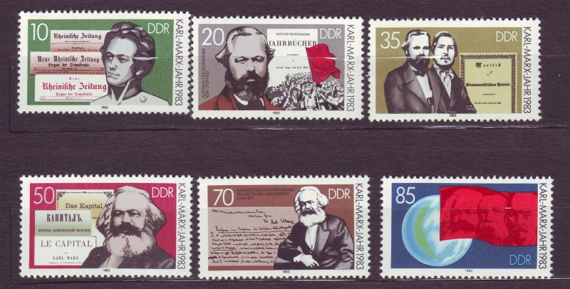 J23262 JL stamps 1983 DDR germany set mnh #2332-7 karl marx