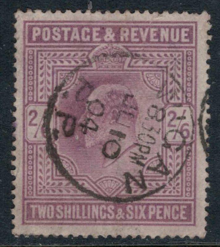 Great Britain #139  CV $150.00  July 10, 1904 Wigan cancellation