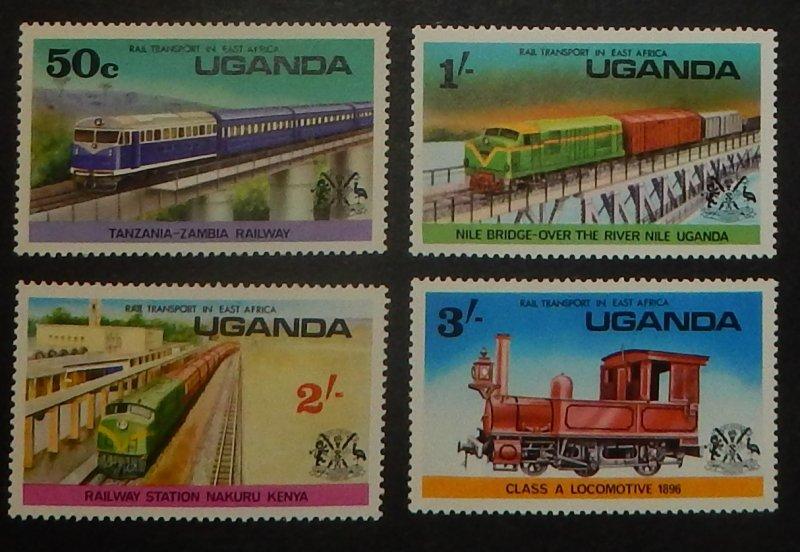 Uganda 155-58. 1976 Rail Transportation, NH