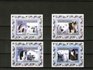 Guinea-Bissau 2007 Penguins-Polar Bears 4 SS MNH VF