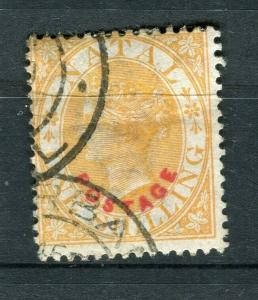 NATAL; 1888 early classic QV POSTAGE Optd. issue fine used 1s. value