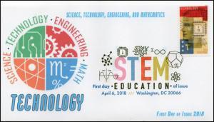 18-088, 2018, STEM Education, Digital Color Postmark, Technology, FDC,