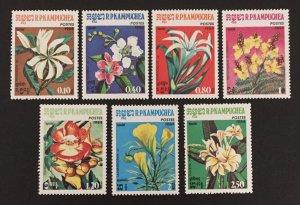 Cambodia 1984 #511-7, Flowers, MNH.