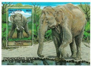 Maldives MNH S/S 1866 Endangered Elephants