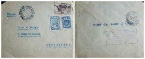 O) 1926 COLOMBIA, SCADTA FROM MEDELLIN, TAX SEAL - AL MAR! - 2c - GOLFO DE