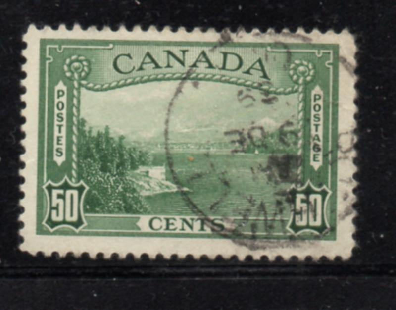 Canada Sc 244 1938 50c Vancouver Harbour stamp used