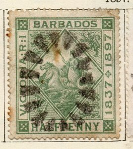 Barbados 1897 Early Issue Fine Used 1/2d. NW-114679