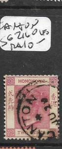 HONG KONG TREATY PORT CANTON  (P2706B)  QV 2C  SG Z160  CDS  VFU