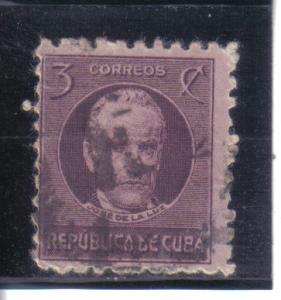 Cuba #310 used avg. nubs, creased.