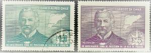 CHILE SC# 383+C298  USED 1970   EASTER ISLAND  SEE SCAN