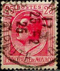 Monaco 1924: Sc. # 69; O/Used Single Stamp