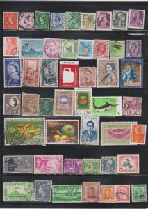 LOT OF DIFFERENT STAMPS OF THE WORLD USED (49) LOT#113