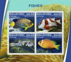 Z08 IMPERF MLD190802a MALDIVES 2019 Fishes MNH ** Postfrisch