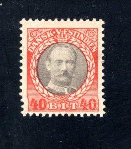 Danish West Indies #49,  F,  Unused,   CV $5.75 ....1630047