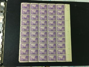 SCOTT 802 1937- VIRGIN ISLANDS (CHARLOTTE AMELIA)  -MNH- Sheet of 50