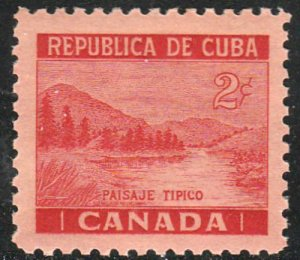 1937 Cuba Stamps Sc 343 Canadian Scene MNH