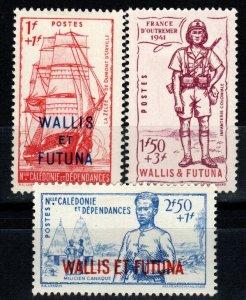 Wallis And Futuna Islands #B6-8  F-VF Unused CV $5.25 (X991)