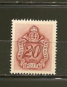 Hungary J160 Postage Due Mint Hinged