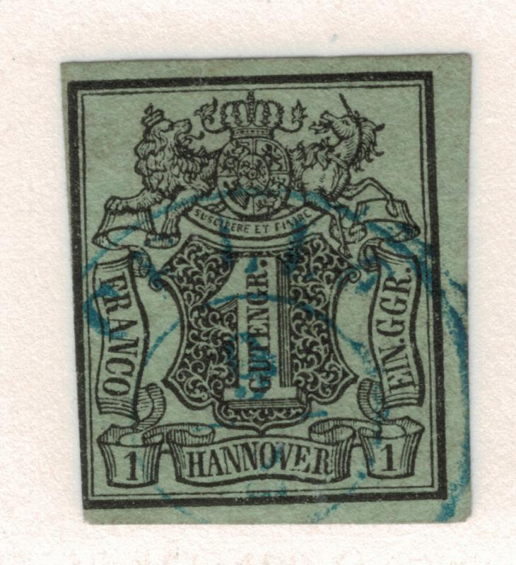 Hannover (German State) Stamp Scott #2, Used, Town Cancel