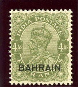 Bahrain 1935 KGV 4a sage-green superb MNH. SG 19. Sc 17.