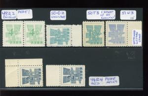 Ryukyu Islands Scott #44//53 Currency Conversion Provisional RARE Variety Lot!!!