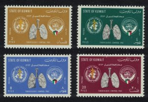 Kuwait WHO Tuberculosis Control Campaign 4v 1963 MH SC#204-207 SG#195-198
