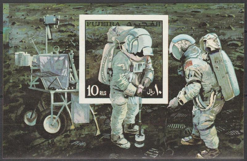 Fujeira Apollo 14 Block #48 MNH (A2074)