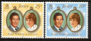 JERSEY SG284/5 1981 ROYAL WEDDING MNH