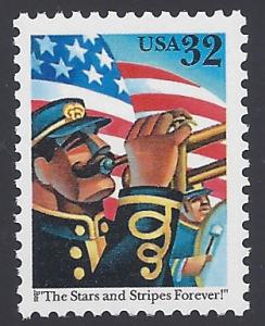 #3153 32c The Stars and Stripes Forever! 1997 Mint NH