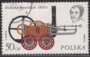 Poland 2143 USED 1976 Richard Trevithick 1803 50GR
