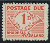 Rhodesia & Nyasaland SG D1 Sc# J1  MNH see details Postage Due