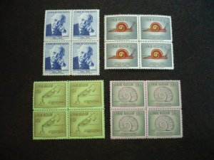 Stamps - Cuba - Scott#607,C182-C184 - Mint Hinged Set of 4 Stamps in Blocks