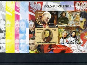 Malagasy 2011 POPE JOHN PAUL II (4) Progressive Color proofs+original