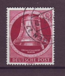 J20685 Jlstamps 1951-2 berlin germany used #9n79 bell clapper left