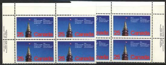 Canada - 1977 25c Parliamentary Conference Imprint Blocks
