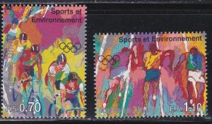 U.N. - Geneva # 289-290, Sports & Environment, NH, Half Cat