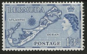 Bermuda Scott 157 MH* SANDYS island variety 1957