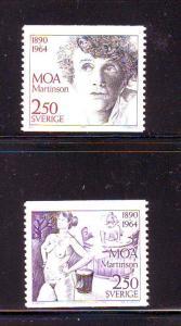 Sweden Sc 1849-0 1990 Moa Martinson stamp set mint NH