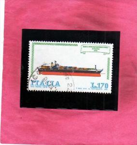 ITALIA REPUBBLICA ITALY REPUBLIC 1978 COSTRUZIONI NAVALI ITALIANE NAVI SHIPS ...