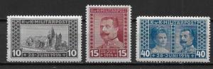 Bosnia & Herzegovina B13-15 Archduke Ferdinand set MNH