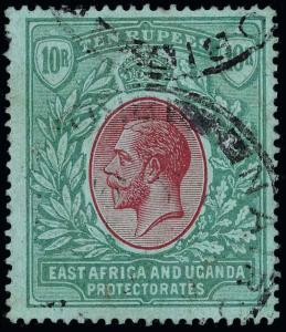 East Africa and Uganda Protectorate Scott 40 Gibbons 44-58 Used Set of Stamps