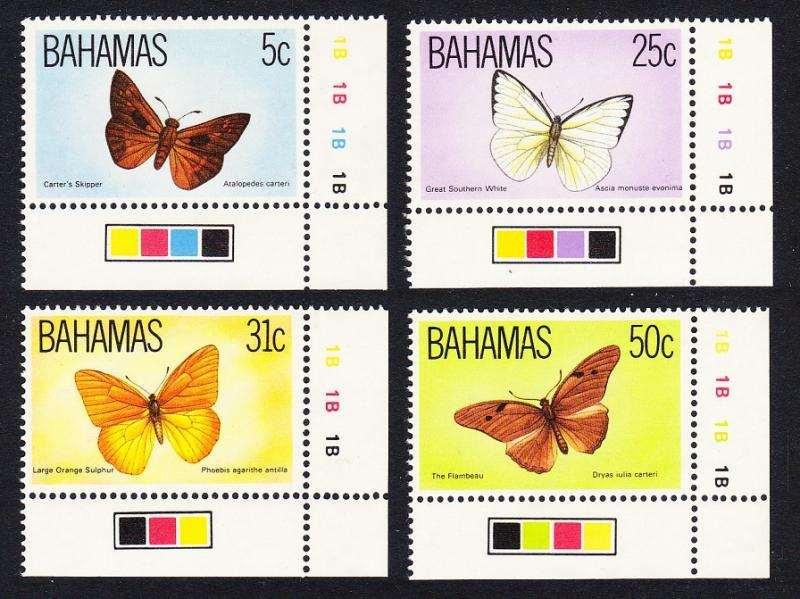 Bahamas Butterflies Wildlife 3rd issue 4v Corners with Traffic Lights SG#653-656