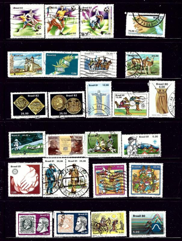 Brazil #3 26 different stamps mostly Used