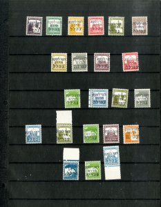 Palestine 22 Forerunner Stamp Issues With Overprints
