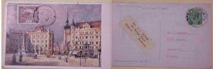 CZECHOSLOVAKIA  PAINTER MUCCA MAXICARD 1920 RE MAILED MALACCA 1930 TO CANADA