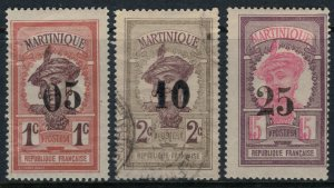 Martinique #105-7*/u  CV $6.45