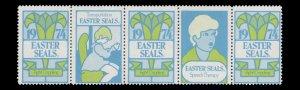 USA CINDERELLA STAMP. EASTER SEAL 1974. UNUSED. # 29