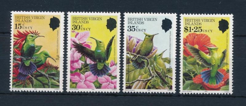 [52857] British Virgin Islands 1982 Birds Vögel Oiseaux Ucelli Flowers MNH
