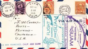 Cover: 1st Flight, San Fran, CA-Guam, Oct 5, 1935 (11223)