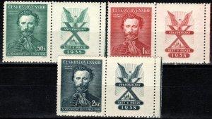 Czechoslovakia #246-8 MNH With Labels CV $2.50  (X266)